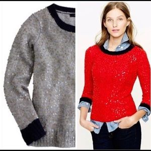 J. Crew Scattered Sequin Sweater